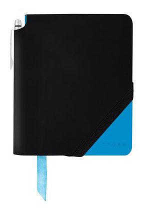 Записная книжка Cross Jot Zone Large (AC273-3L) черный/ярко-синий 160стр. в линейку в компл.:ручка 2