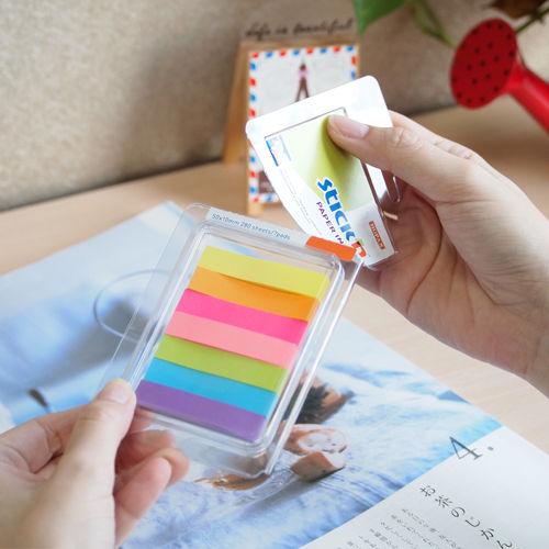 Закладки самокл. индексы бумажные Stick`n 21618 10x50мм 7цв.в упак. 40лист блистер