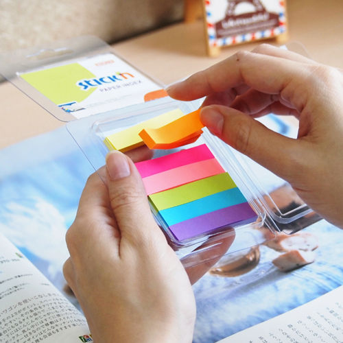 Закладки самокл. индексы бумажные Stick`n 21617 4цв.в упак. 40лист 12x50мм+38x50мм блистер