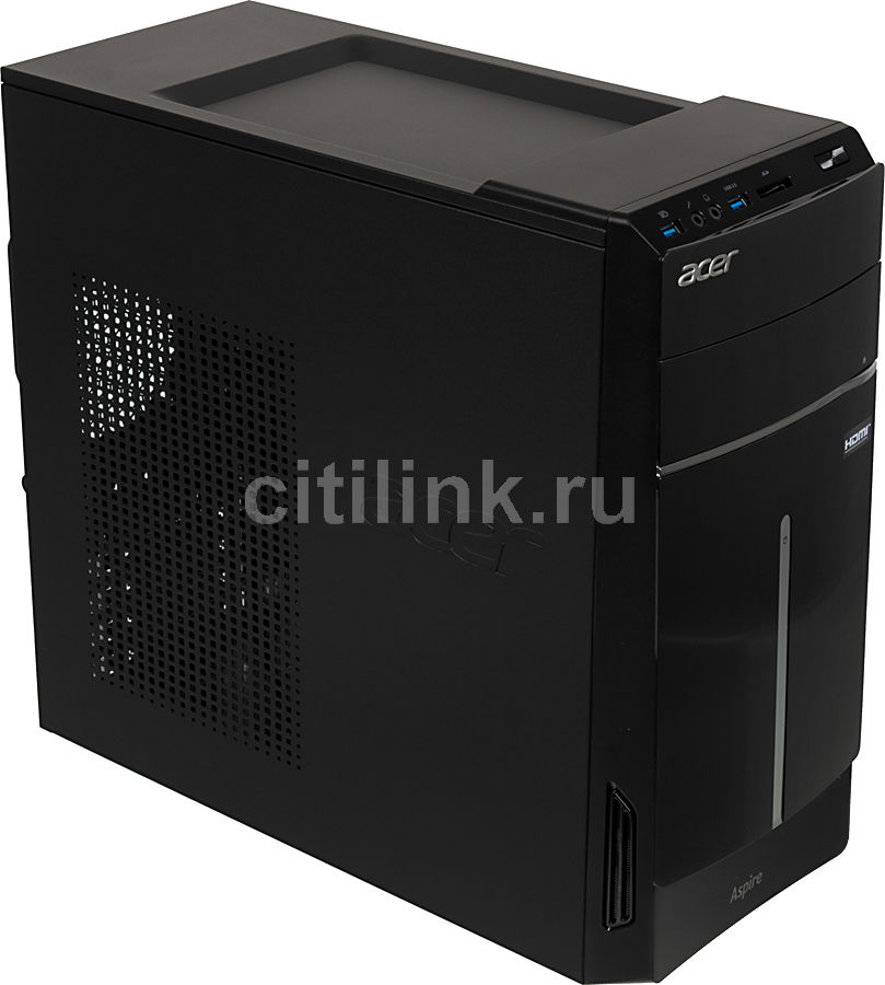 Компьютер  ACER Aspire TC-605,  Intel  Pentium  G3220,  DDR3 4Гб, 500Гб,  Intel HD Graphics,  DVD-RW,  CR,  Windows 8.1,  черный [dt.srqer.021]
