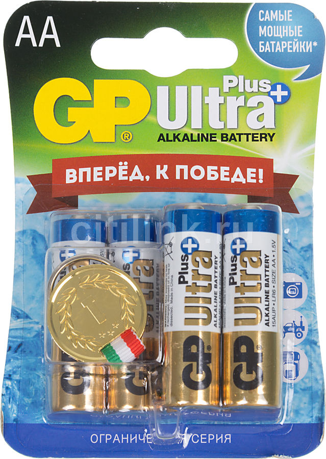 Батарея GP Ultra Plus 15AUPGR-2CR6,  6 шт. AA