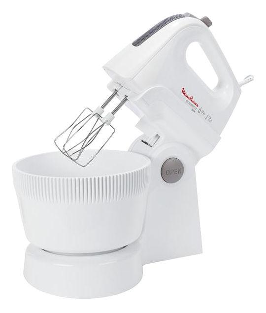 Миксер MOULINEX HM615130, с чашей,  белый [1500811254]