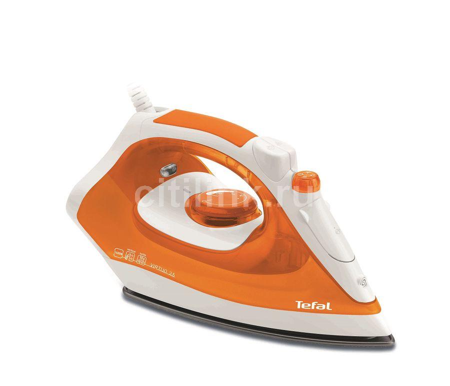 Утюг TEFAL FV1325,  1400Вт,  оранжевый/ белый [1830004882]