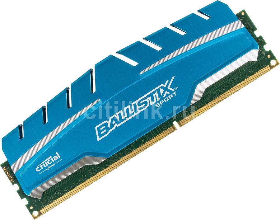 Модуль памяти CRUCIAL Ballistix Sport XT BLS8G3D169DS3CEU DDR3 -  8Гб 1600, DIMM,  Ret