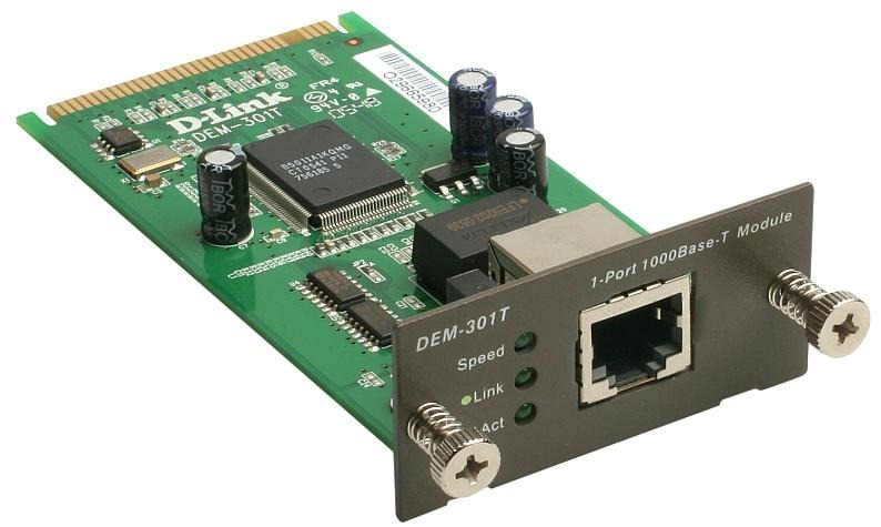 Модуль D-Link 1-port 1000BASE-T (DEM-301T)