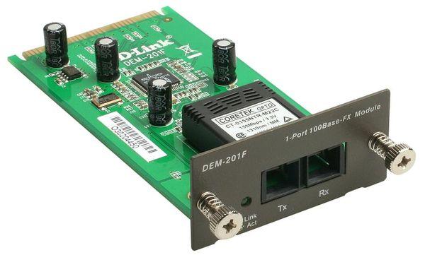 Модуль D-Link 1-port 100BASE-FX (SC) multi-mode, до 2km (DEM-201F)