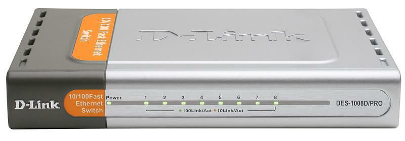 Коммутатор D-LINK DES-1008D/PRO, DES-1008D/PRO/E