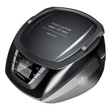 Аудиомагнитола ROLSEN RBM-210BT,  черный