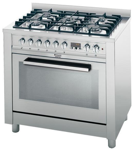Газовая плита HOTPOINT-ARISTON CP98SEA /HA S,  электрическая духовка,  серебристый