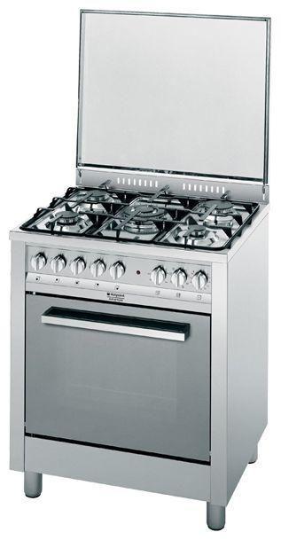 Газовая плита HOTPOINT-ARISTON CP77SP2 /HA S,  электрическая духовка,  серебристый