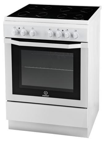 Электрическая плита INDESIT I6V52(W)/RU,  стеклокерамика,  белый