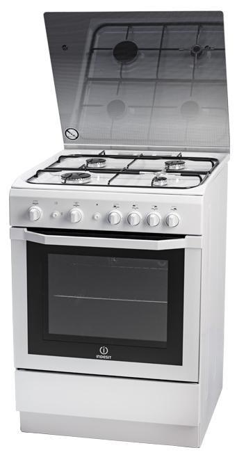 Газовая плита INDESIT I6GG1G(W)/RU,  газовая духовка,  белый