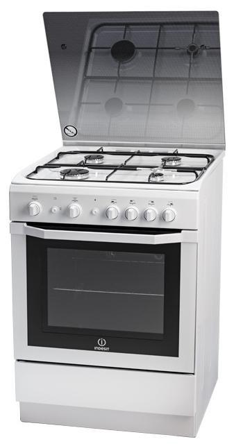 Газовая плита INDESIT I6GG10G(W)/RU,  газовая духовка,  белый