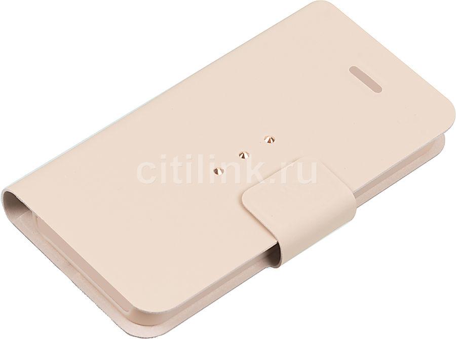 Чехол (флип-кейс) WHITE DIAMONDS Crystal Wallet, 1212TRI56, для Apple iPhone 5/5s, золотистый