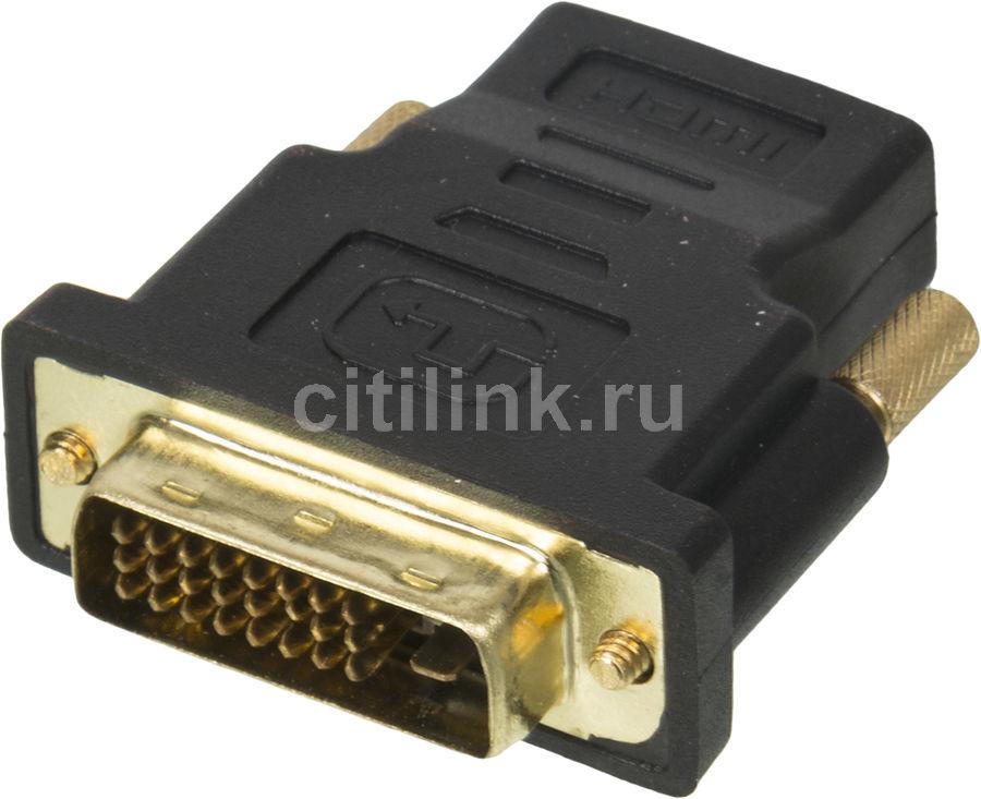 Адаптер DVI HAMA DVI-D (m) -  HDMI (f),  GOLD ,  черный [00122237]
