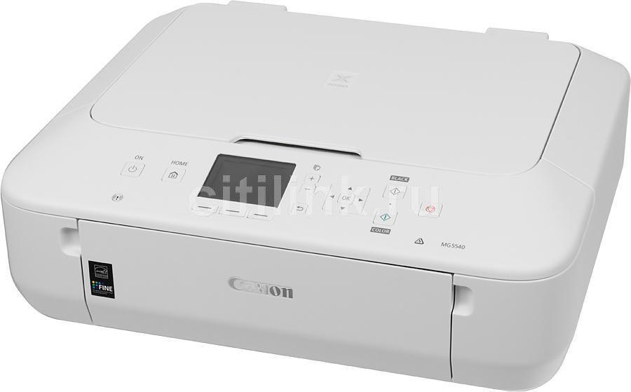 МФУ CANON PIXMA MG5540, A4, цветной, струйный, белый [8580b026]