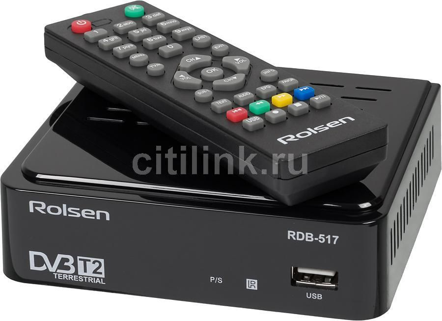 Ресивер DVB-T2 ROLSEN RDB-517,  черный [1-rldb-rdb-517]