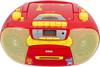 Аудиомагнитола BBK BX111UC,  красный и желтый вид 2