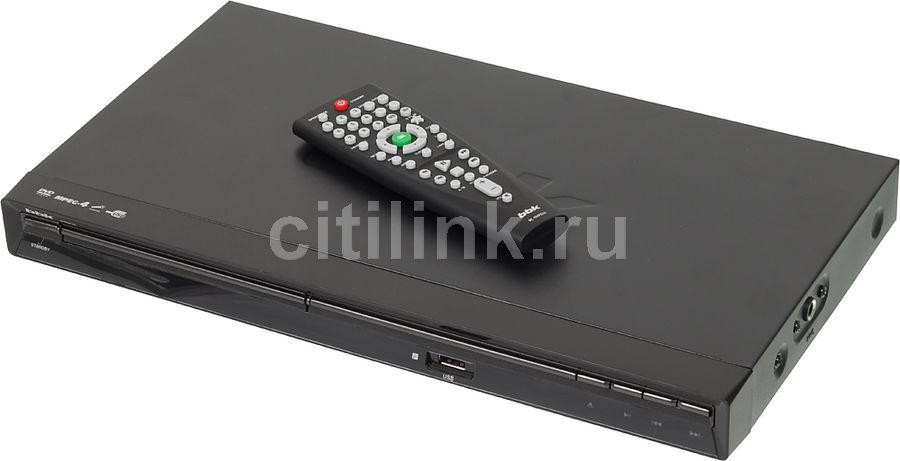 DVD-плеер BBK DVP471S,  черный [(dvd) player dvp471s+д500 чер]