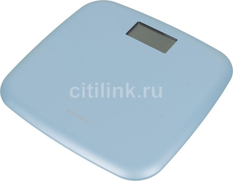 Напольные весы SUPRA BSS-6050, до 150кг, цвет: голубой [5950]