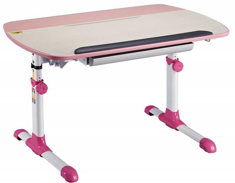 Детский стол  БЮРОКРАТ Conductor-12,  ЛДСП,  молочный и розовый