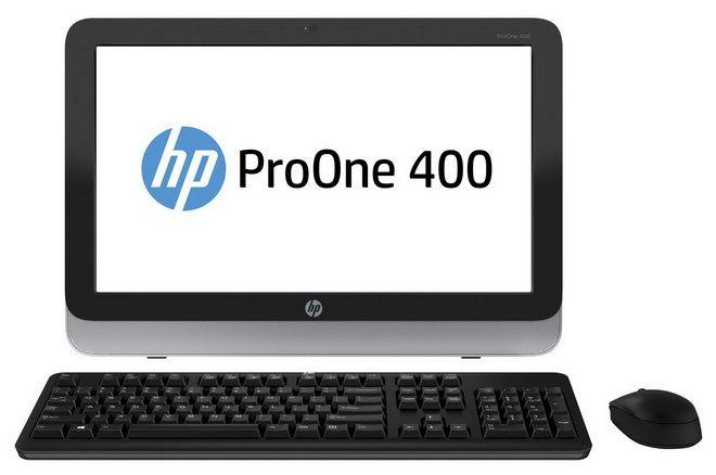 Моноблок HP ProOne 400 G1, Intel Celeron G1820T, 4Гб, 500Гб, Intel HD Graphics, DVD-RW, Windows 7 Professional, черный и серебристый [d5u13ea]