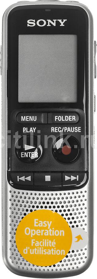Диктофон SONY ICD-BX140 4 Gb,  серебристый [icdbx140.ce7]