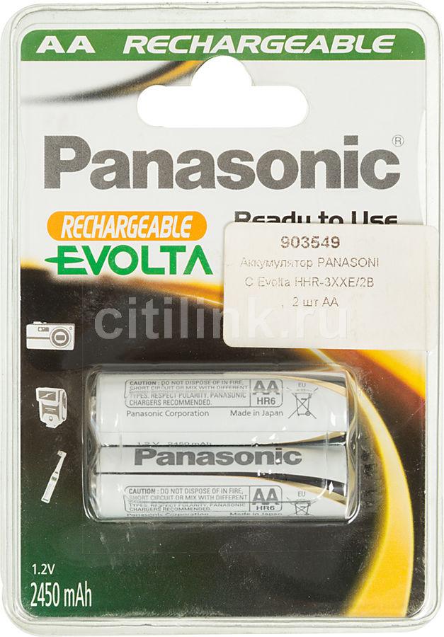 Аккумулятор PANASONIC Evolta HHR-3XXE/2B,  2 шт. AA,  2450мAч