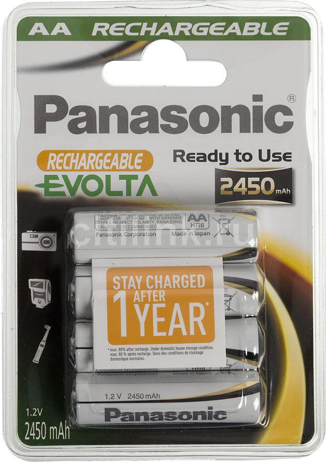 Аккумулятор PANASONIC Evolta HHR-3XXE/4В,  4 шт. AA,  2450мAч