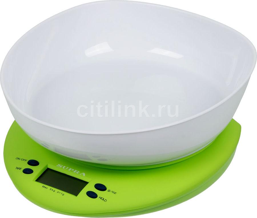 Весы кухонные SUPRA BSS-4021,  зеленый