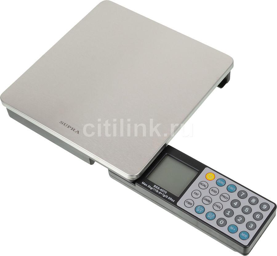 Весы кухонные SUPRA BSS-4070,  серебристый