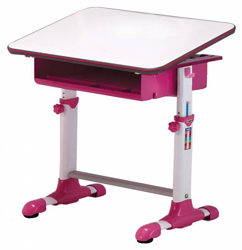Детский стол  БЮРОКРАТ Conductor-04,  ЛДСП,  белый и розовый