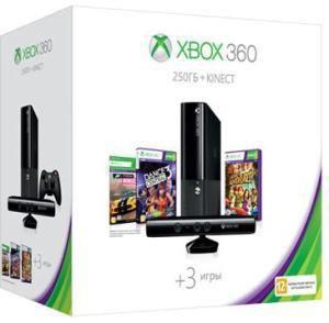 Игровая консоль MICROSOFT Xbox 360 S7G-00148, черный