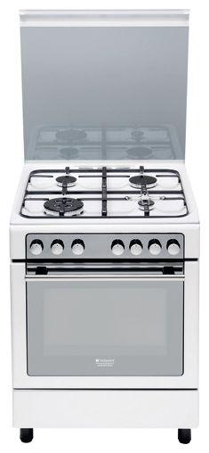 Газовая плита HOTPOINT-ARISTON CG65SG1 (W) IT/HA H,  газовая духовка,  белый