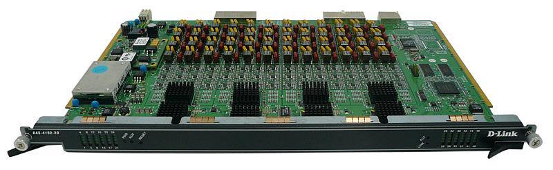 Модуль D-Link Subscriber Line Card 48 ports ATU-C Subscriber line ADSL Annex A (DAS-4192-20)