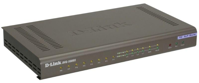 Телефония IP D-Link 8 FXS VoIP шлюз 4 10/100BASE-TX , 1 WAN, 8 FXS RJ-11 ports (DVG-5008S) [dvg-5008s/e]