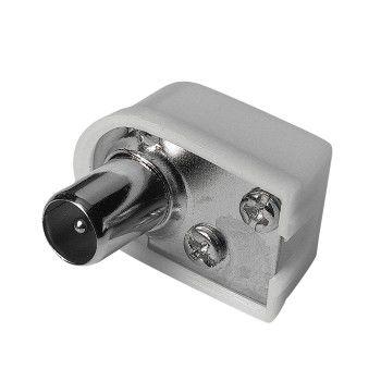 Штекер антенный HAMA Coax (m)  (Г-образный) -  белый [00122479]