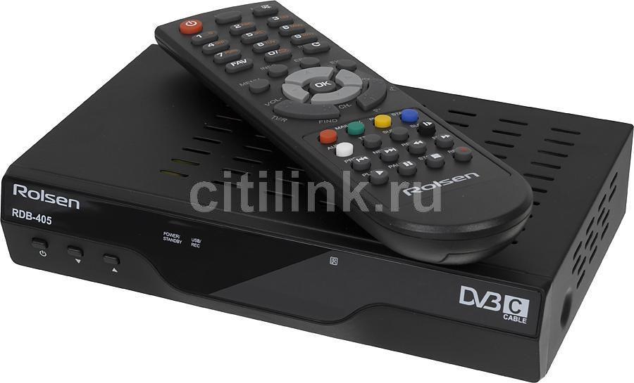 Ресивер DVB-C ROLSEN RDB-405,  черный [1-rldb-rdb-405]