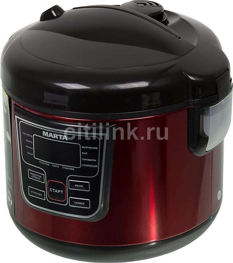 Мультиварка MARTA MT-1965,  500Вт,   черный/красный [28746]