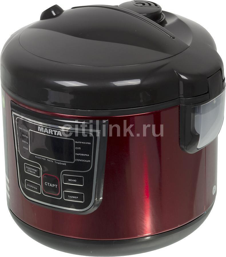 Мультиварка MARTA MT-1970,  500Вт,   красный/черный