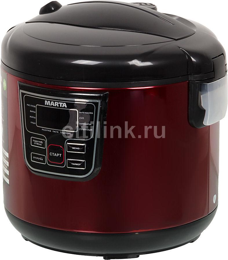 Мультиварка MARTA MT-1971,  860Вт,   красный/черный