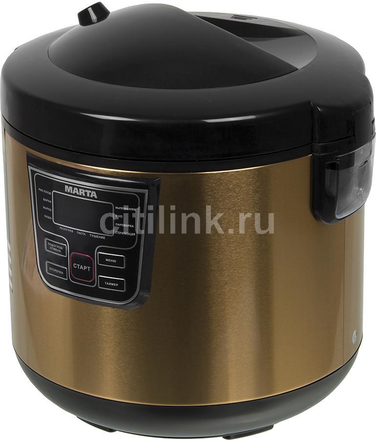 Мультиварка MARTA MT-1973,  1000Вт,   золотистый/черный