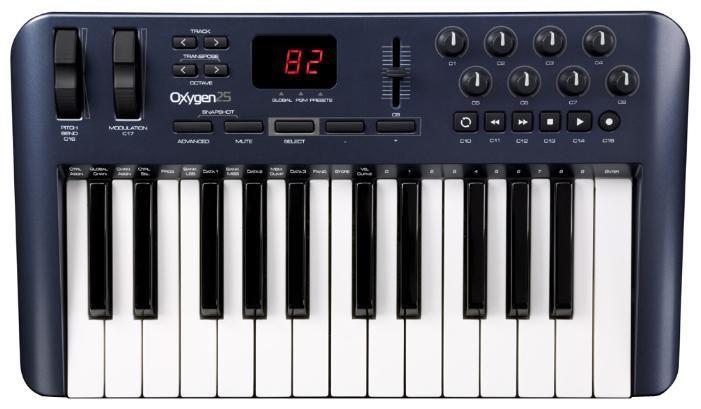 Клавиатура MIDI M-Audio Oxygen 25 клав.:25 корпус:пластик темно-синий