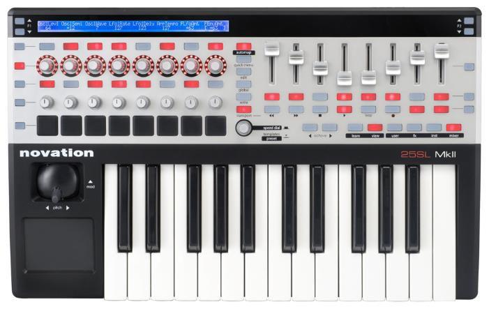 Клавиатура MIDI Novation 25 SL MkII клав.:25 корпус:пластик черный/белый