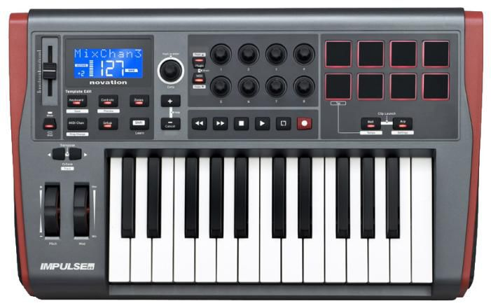 Клавиатура MIDI Novation Impulse 25