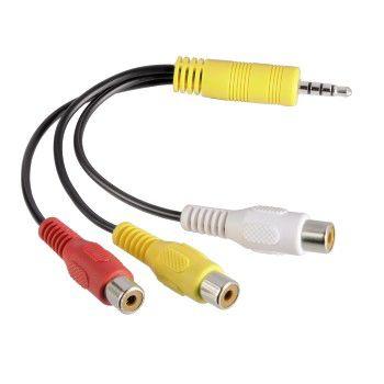 Адаптер аудио-видео HAMA Jack 3.5 (m)  -  3хRCA (m)  [00122247]