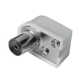 Штекер антенный HAMA Coax (f)  (Г-образный) -  белый [00122480]