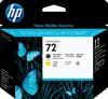 Печатающая головка HP №72 C9384A,  черный матовый / желтый вид 1