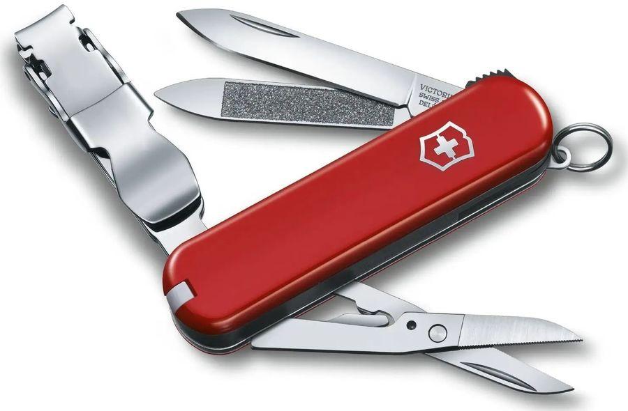 Складной нож VICTORINOX NailClip 580, 8 функций,  65мм, красный  [0.6463]