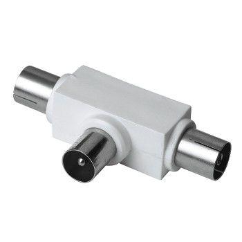 Сплиттер антенный HAMA Coax (m)  -  2xCoax (f) ,  белый [00122472]